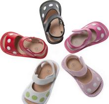 Squeaky-Sandals-with-Polka-Dots-Toddler-Size-1-7